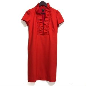 J. Crew Factory Wool Ruffle Collar Dress